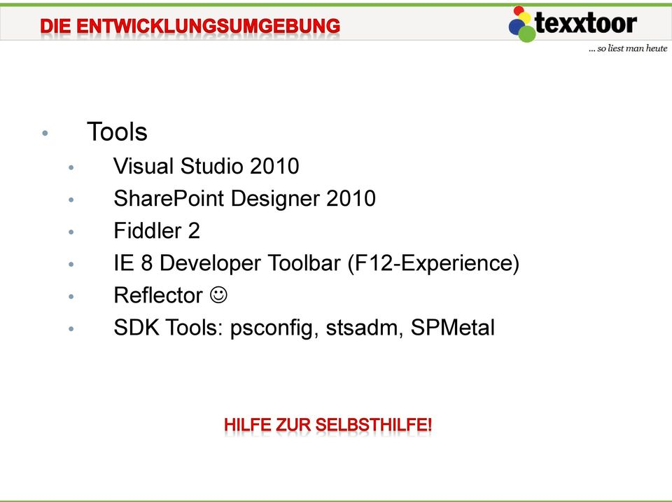 Developer Toolbar (F12-Experience)