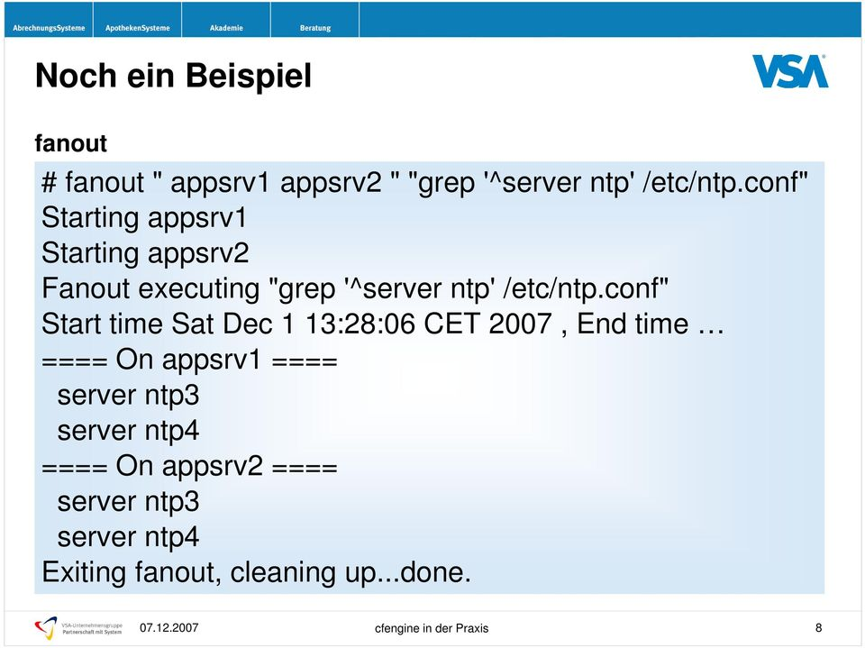 "conf"" Start time Sat Dec 1 13:28:06 CET 2007, End time ==== On appsrv1 ==== server ntp3"