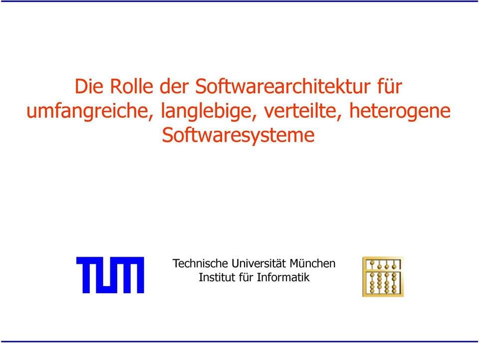 heterogene Softwaresysteme Technische