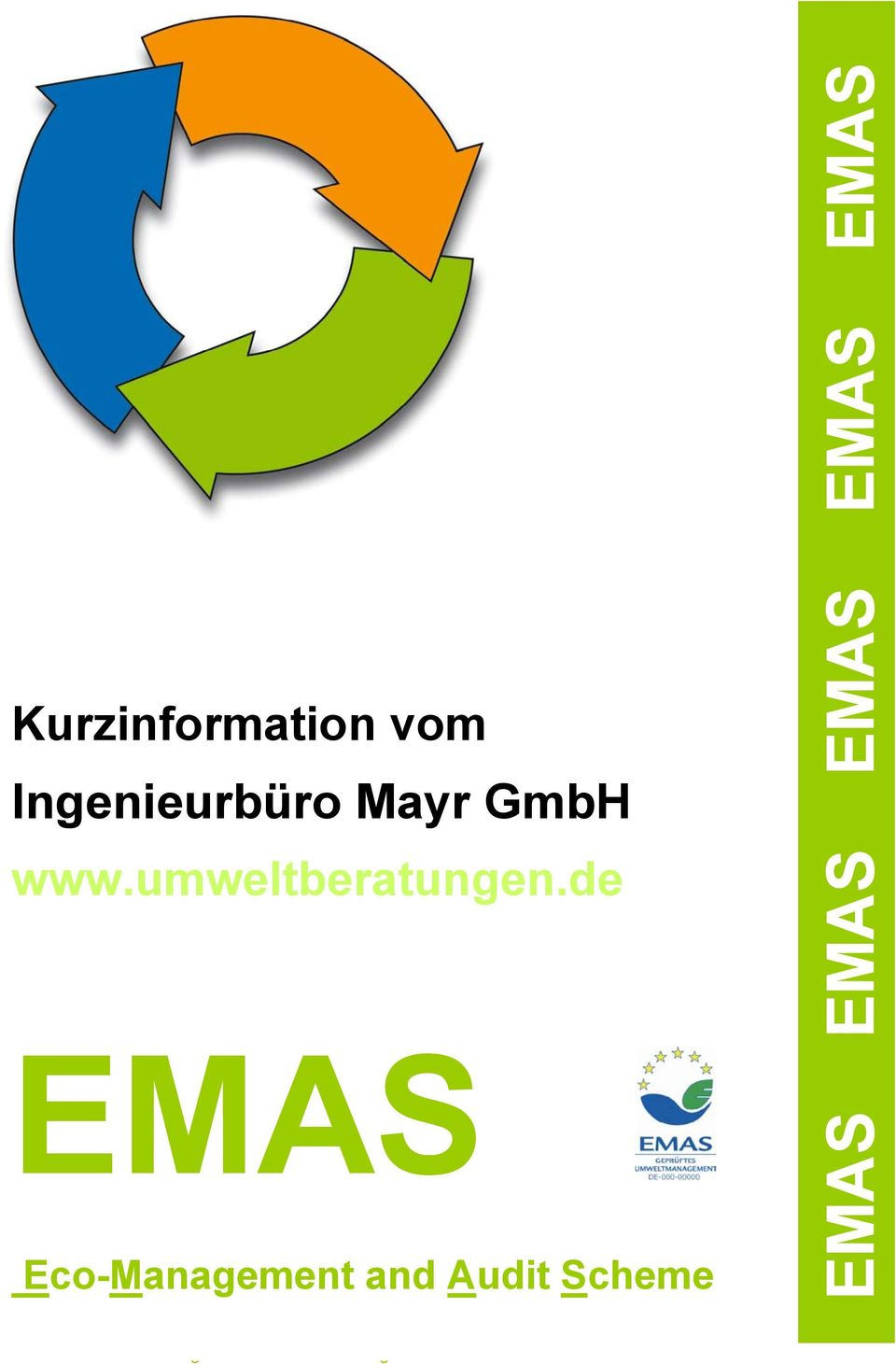 de EMAS Eco-Management and Audit Scheme EMAS