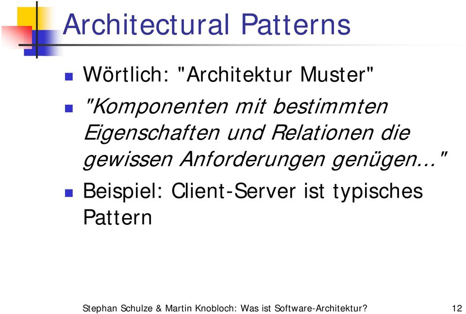 Was ist software architektur pdf for Software architektur