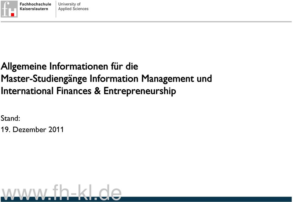 Management und International