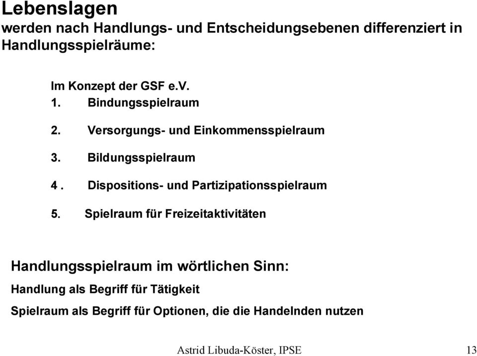 Dispositions- und Partizipationsspielraum 5.