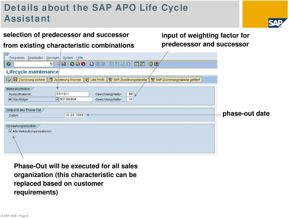 predecessor and successor phase-out date Phase-Out will be executed for all sales