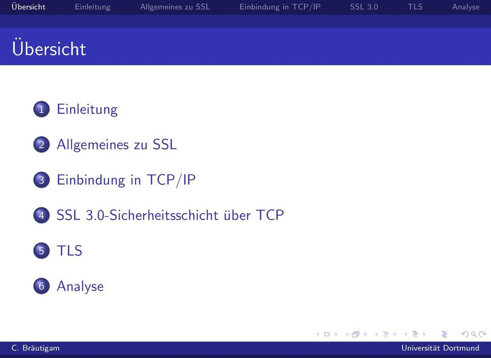 Einbindung in TCP/IP 4 SSL 3.