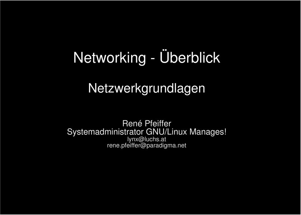 Systemadministrator GNU/Linux