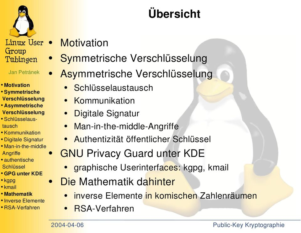graphische Userinterfaces:, Die