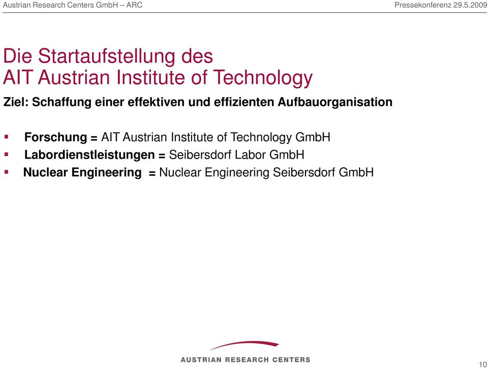 = AIT Austrian Institute of Technology GmbH Labordienstleistungen =