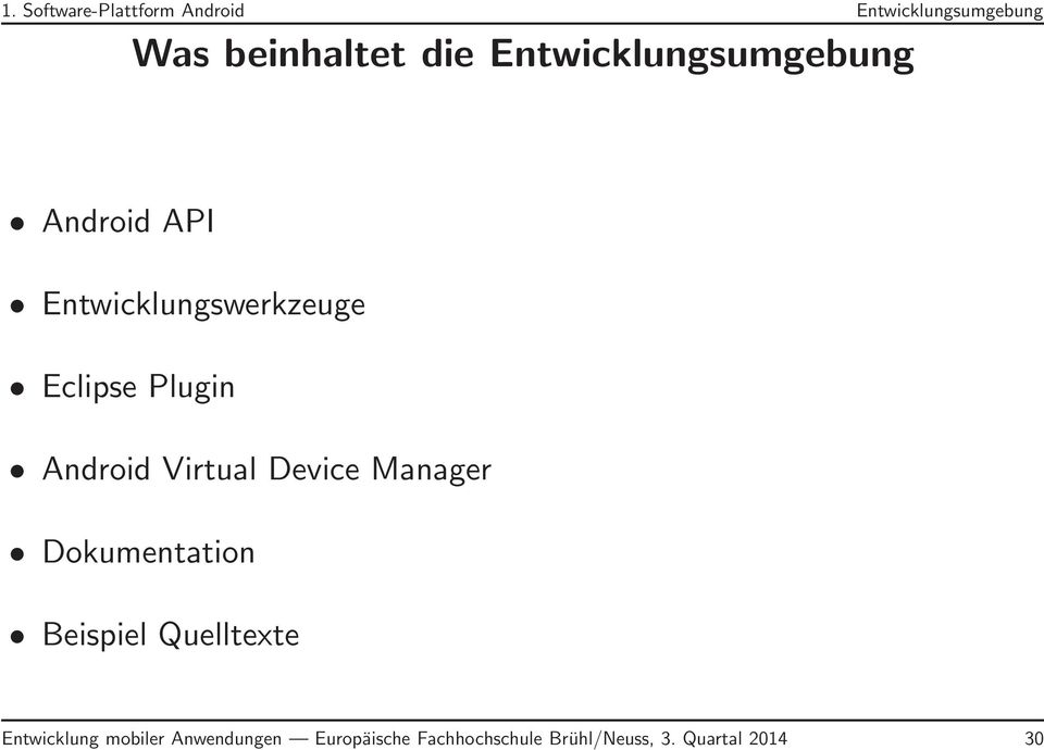 Android Virtual Device Manager Dokumentation Beispiel Quelltexte