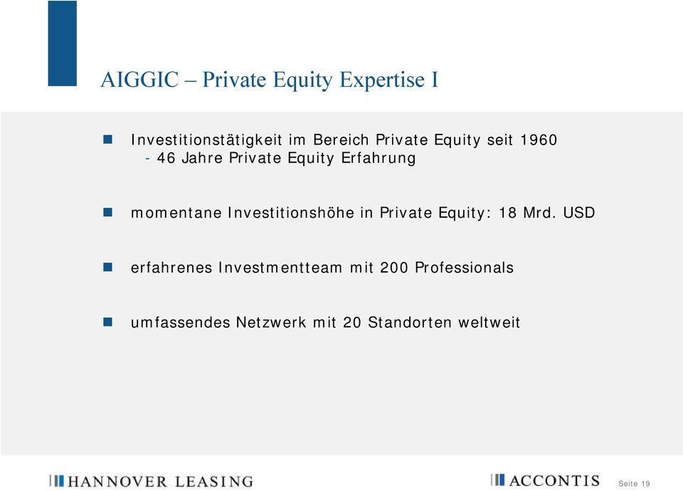 Investitionshöhe in Private Equity: 18 Mrd.