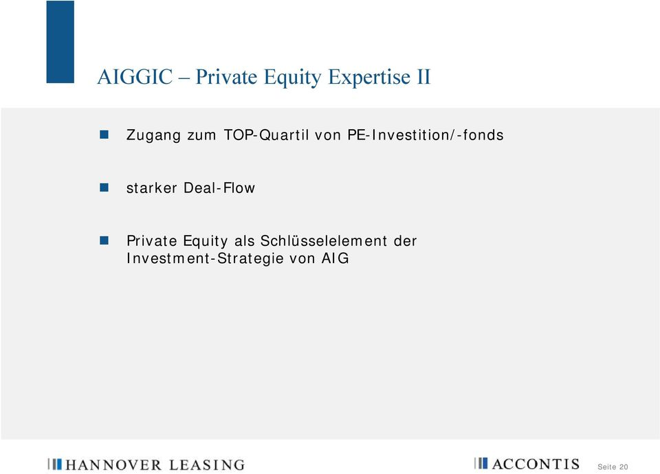 starker Deal-Flow Private Equity als
