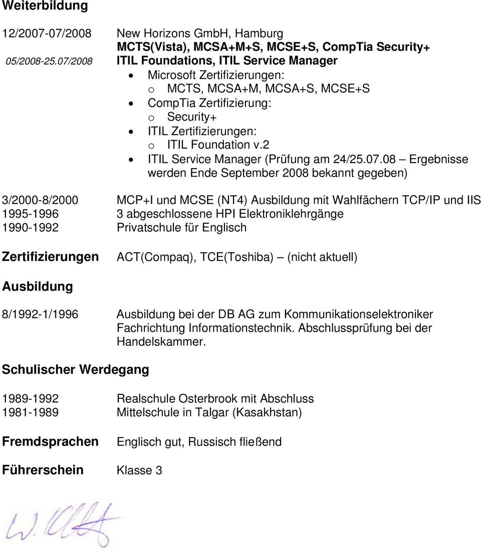 2 ITIL Service Manager (Prüfung am 24/25.07.