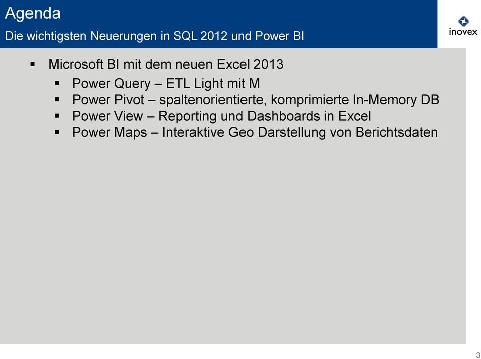 spaltenorientierte, komprimierte In-Memory DB Power View Reporting und
