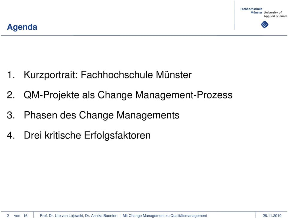 Phasen des Change Managements 4.