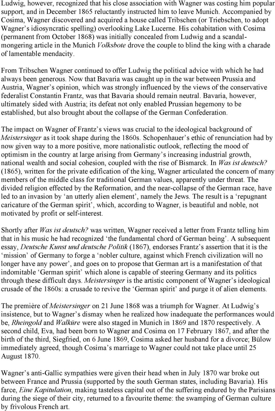 richard wagner beethoven essay Beethoven and wagner for later  in this essay i will illustrate the aforementioned  amazing for us to see how richard wagner interpreted beethoven's idea in.
