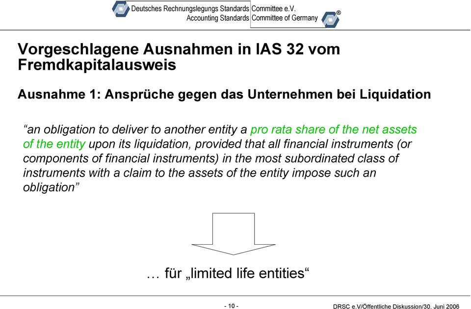 liquidation, provided that all financial instruments (or components of financial instruments) in the most
