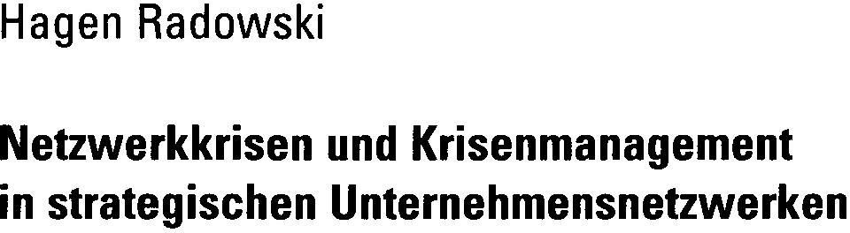 Krisenmanagement in