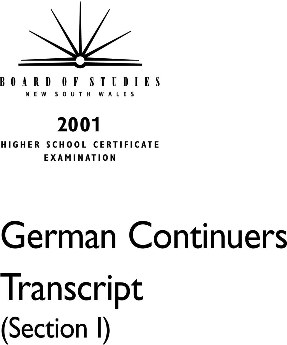 EXAMINATION German