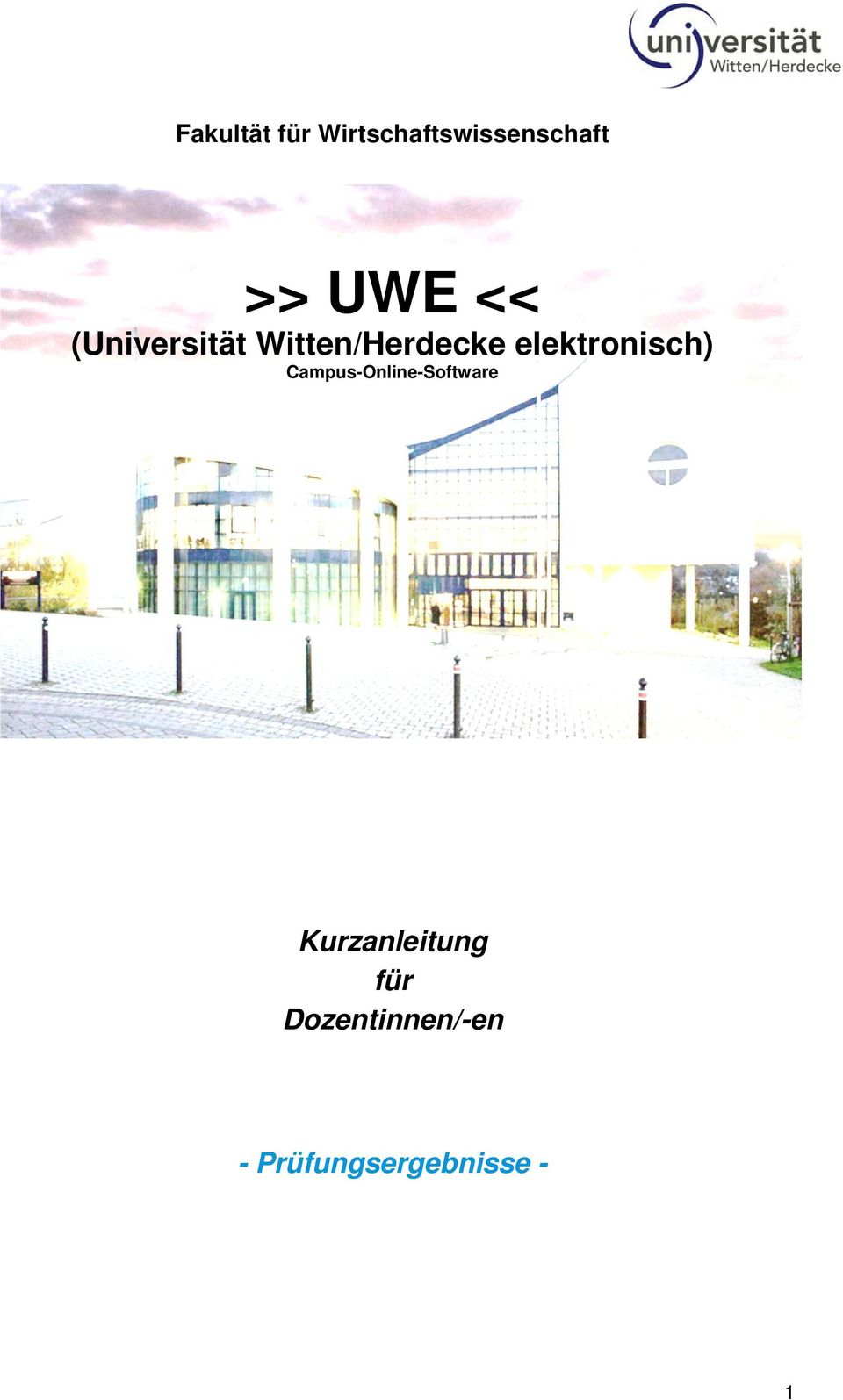 elektronisch) Campus-Online-Software