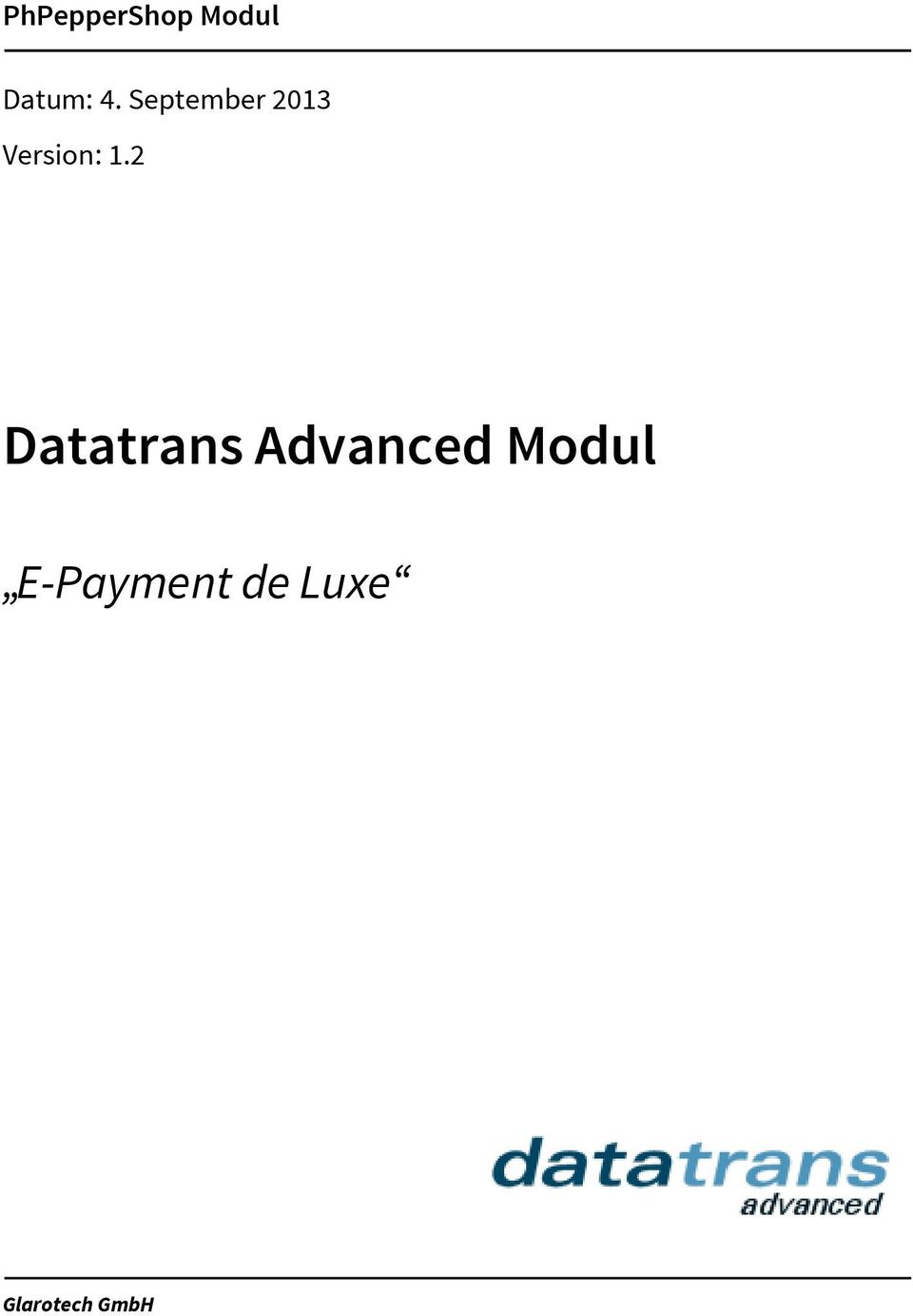 2 Datatrans Advanced Modul