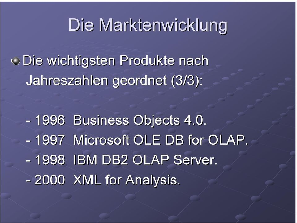 Business Objects 4.0.