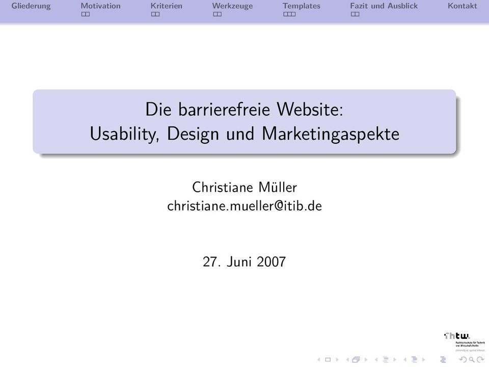 Marketingaspekte Christiane