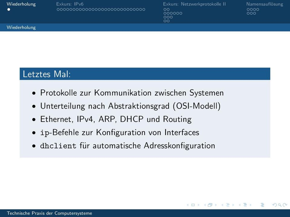 (OSI-Modell) Ethernet, IPv4, ARP, DHCP und Routing ip-befehle
