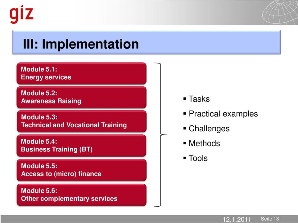 3: Technical and Vocational Training Module 5.