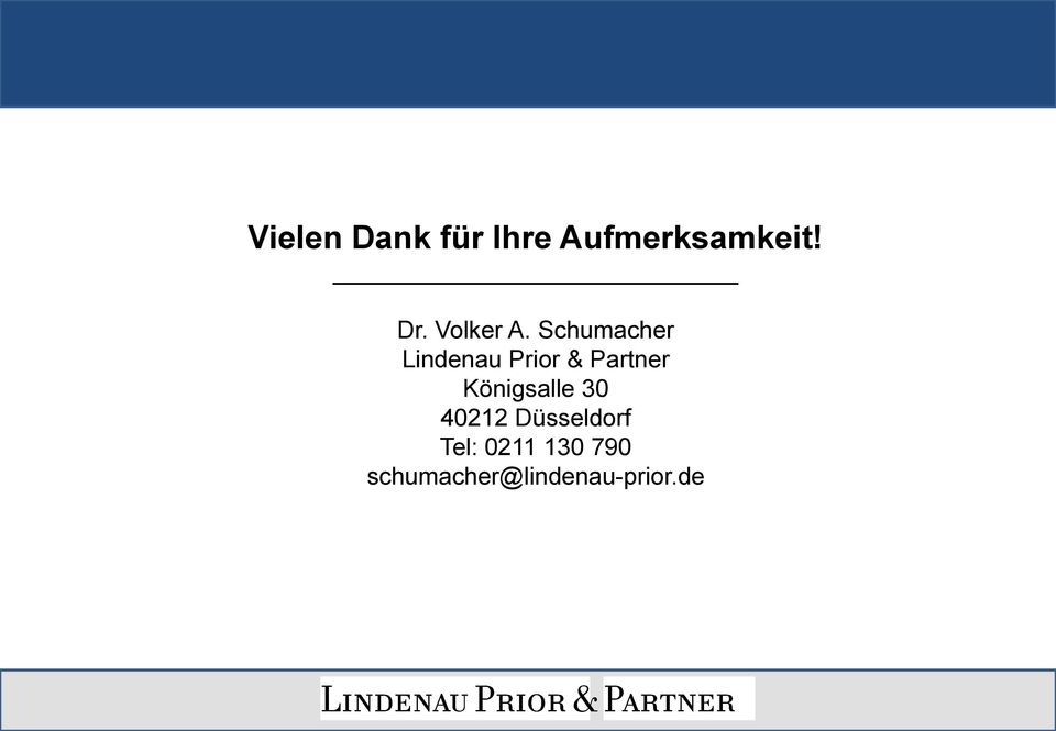 Schumacher Lindenau Prior Partner