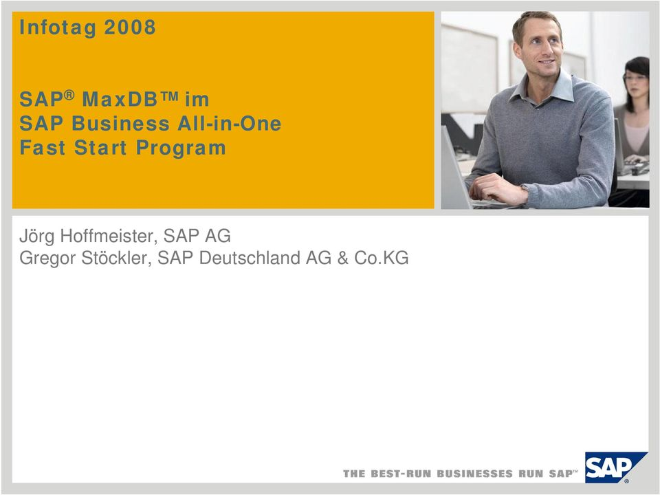 Program Jörg Hoffmeister, SAP AG