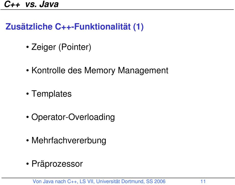 (Pointer) Kontrolle des Memory Management Templates