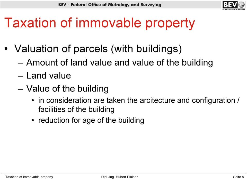 are taken the arcitecture and configuration / facilities of the building reduction