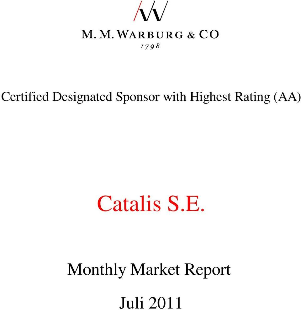Rating (AA) Catalis S.E.