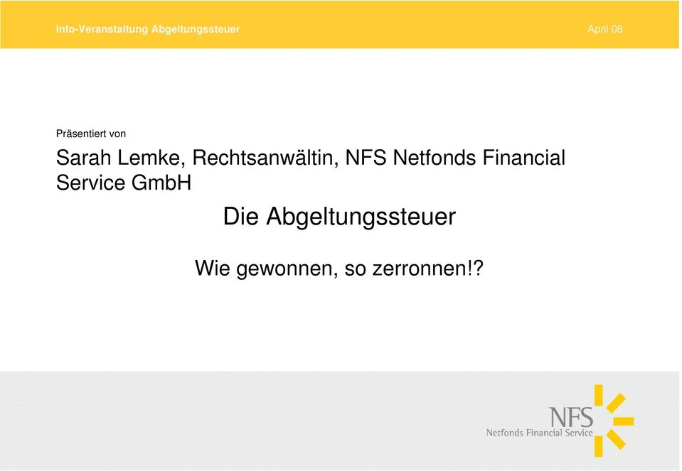 Financial Service GmbH Die