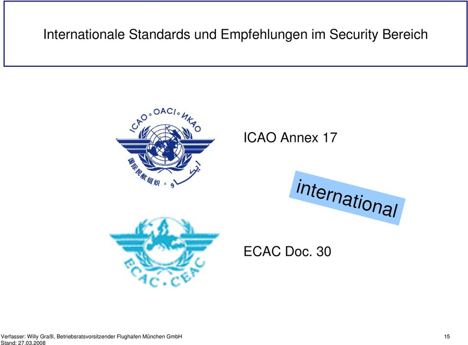Security Bereich ICAO