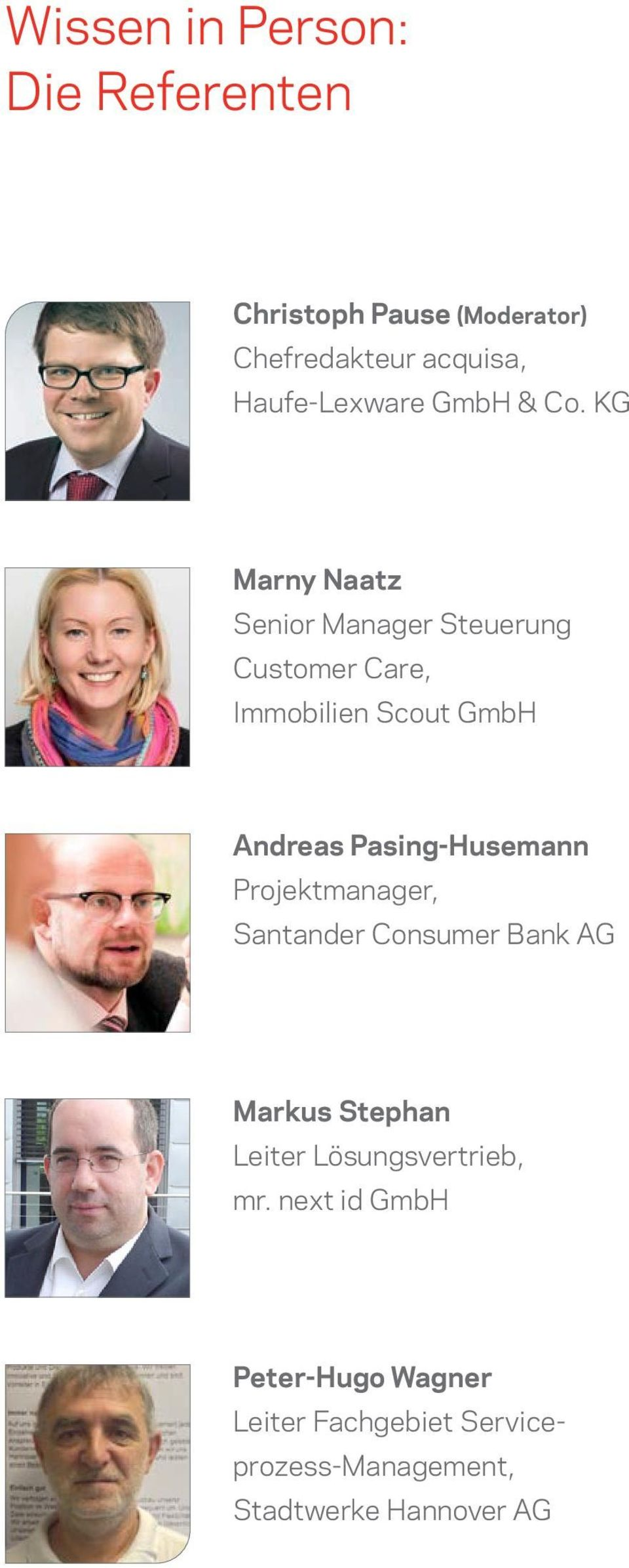 KG Marny Naatz Senior Manager Steuerung Customer Care, Immobilien Scout GmbH Andreas