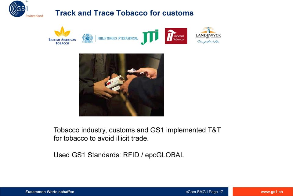 for tobacco to avoid illicit trade.