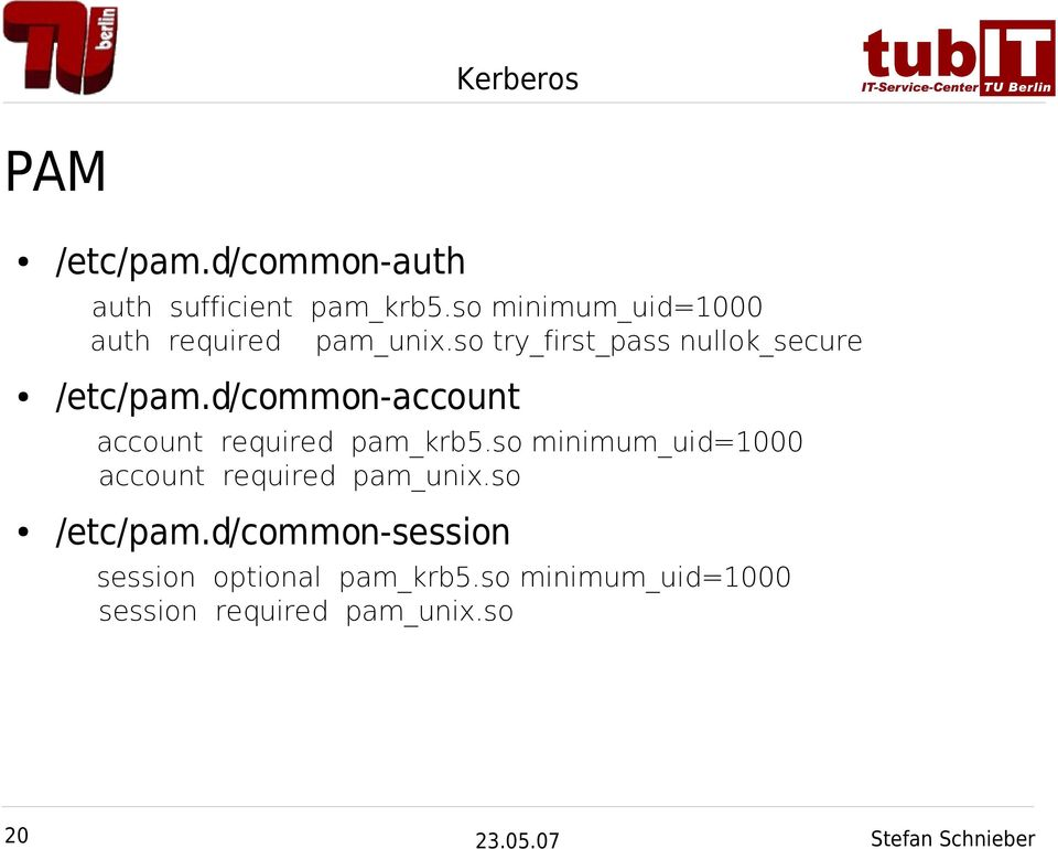 d/common-account account required pam_krb5.