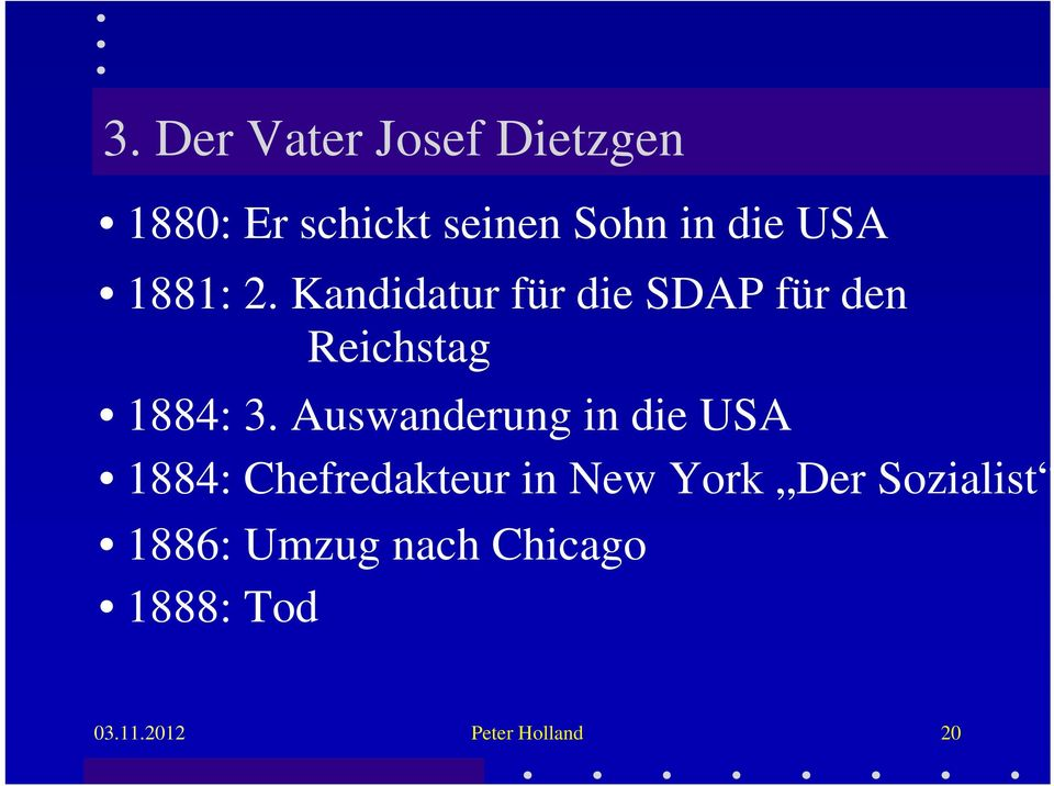 Auswanderung in die USA 1884: Chefredakteur in New York Der