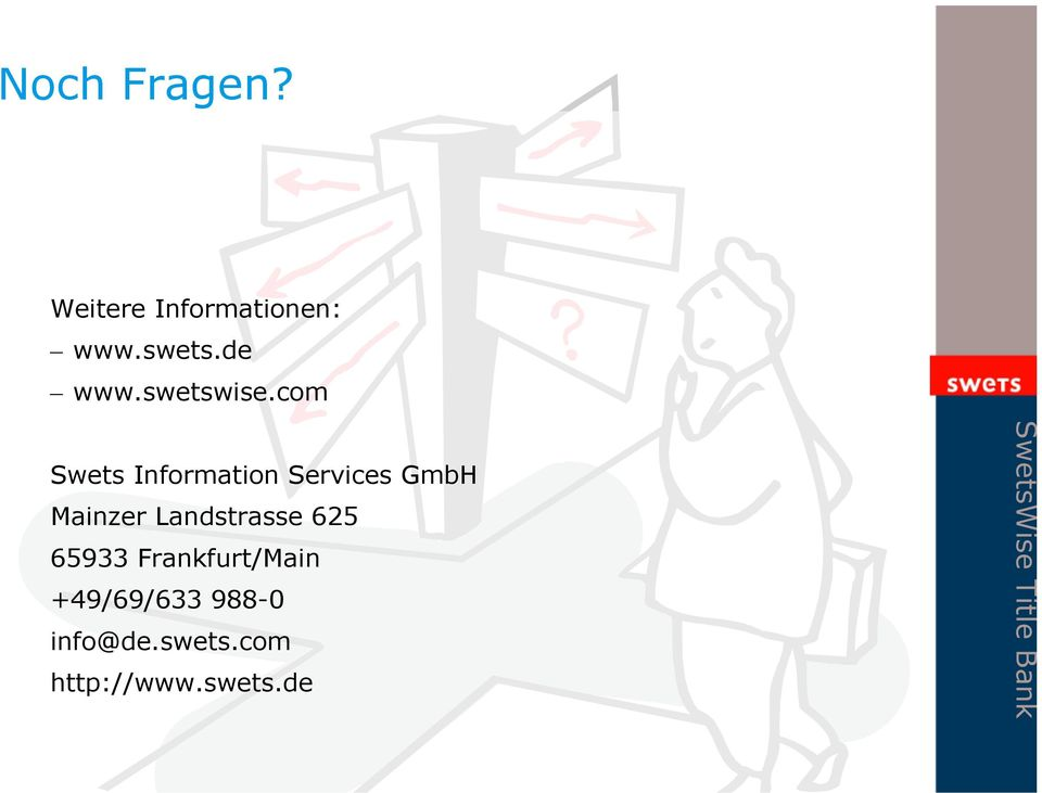 com Swets Information Services GmbH Mainzer
