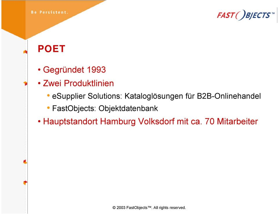 B2B-Onlinehandel FastObjects: