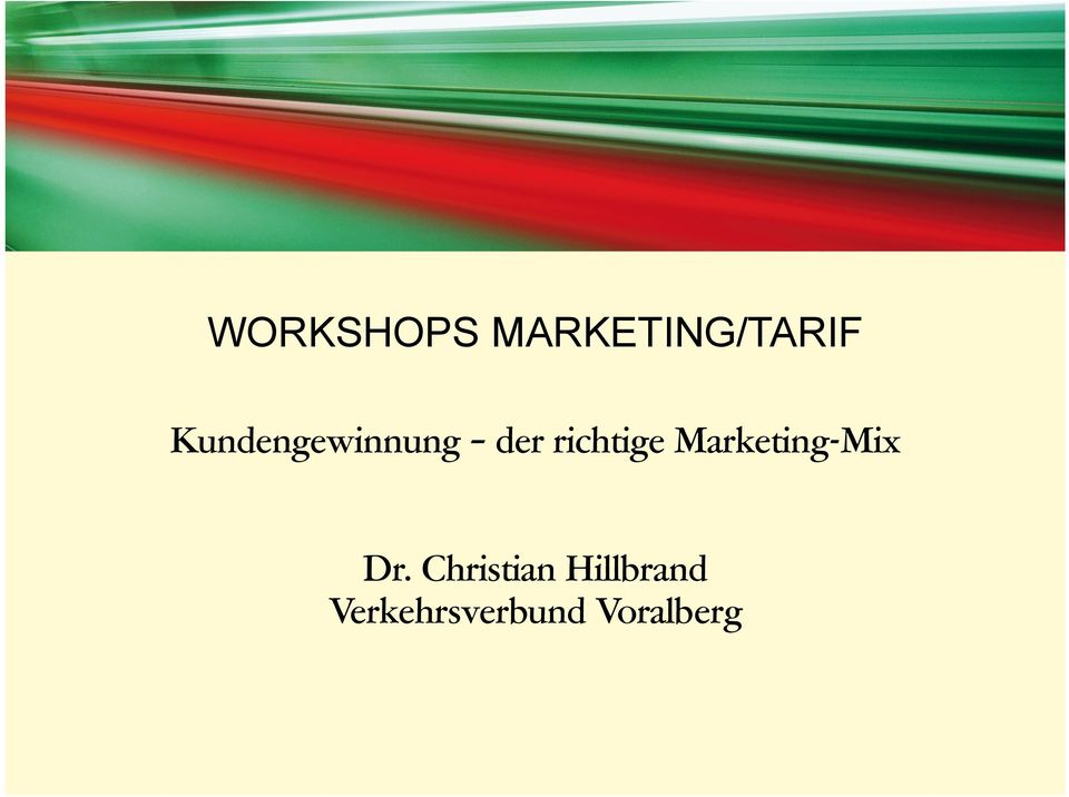 Marketing-Mix Dr.