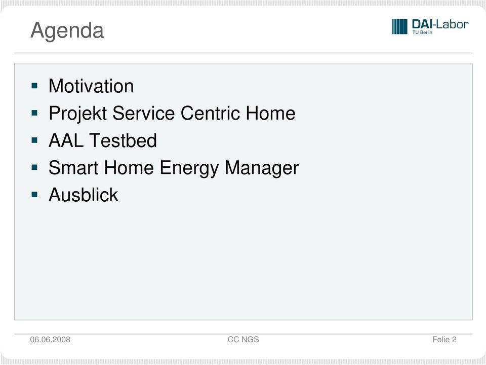 Testbed Smart Home Energy