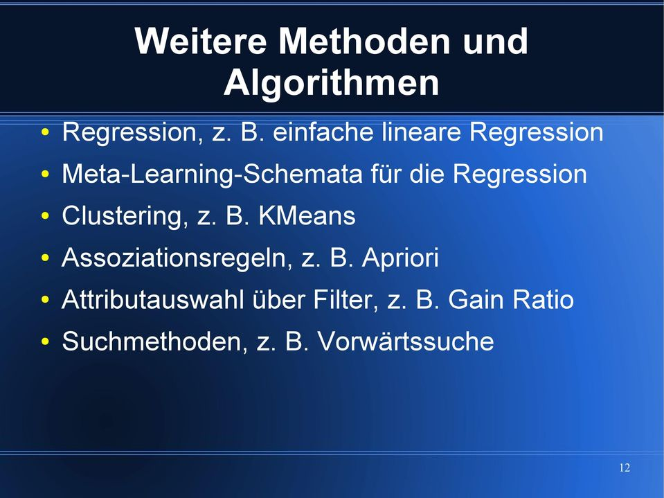 Regression Clustering, z. B.