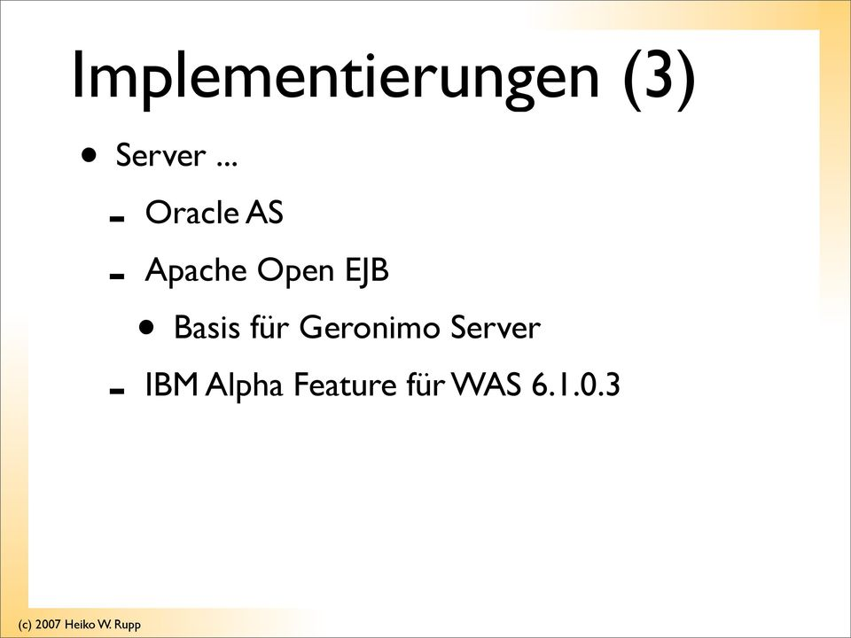 Basis für Geronimo Server IBM
