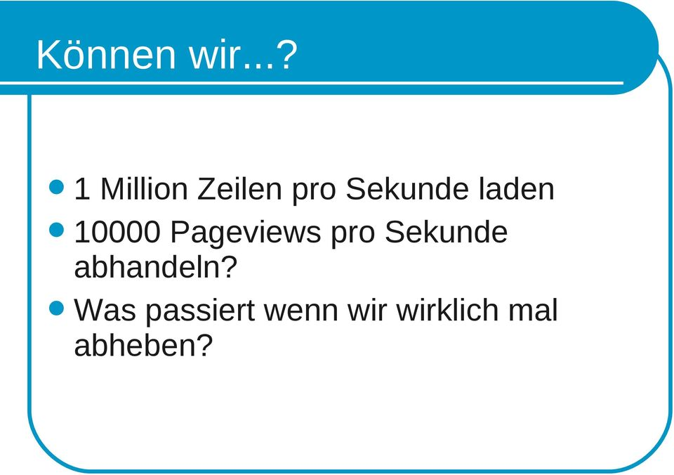 laden 10000 Pageviews pro