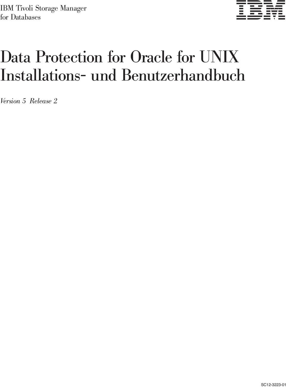 Oracle for UNIX Installations- und