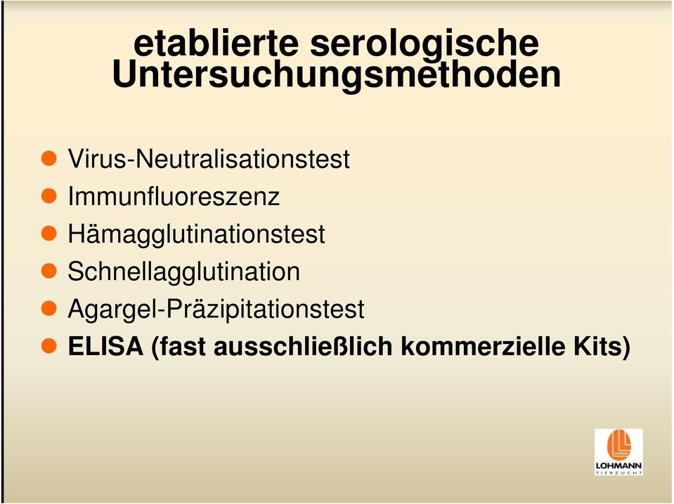 Hämagglutinationstest Schnellagglutination