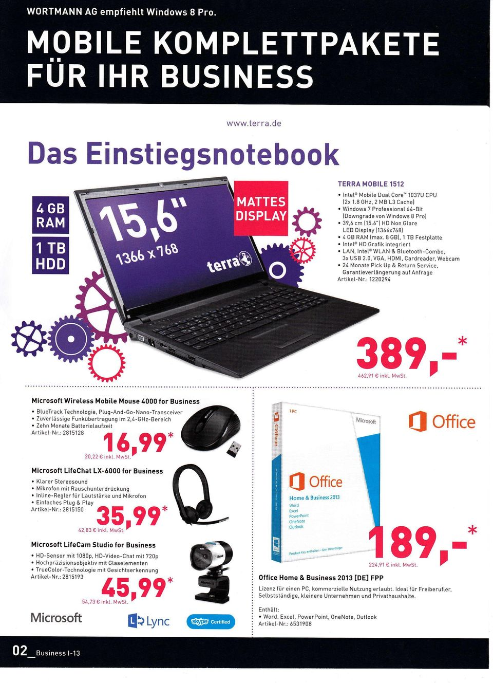 Return Service, Garantievertängerung auf Anf rage Artiket-Nr:1220294 Microsoft Wiretess Mobile Mouse 4000 for Business BtueTrack Technotogie, Ptug-And-Go-Nano-Transceiver Zuvertässige Funkübertragung