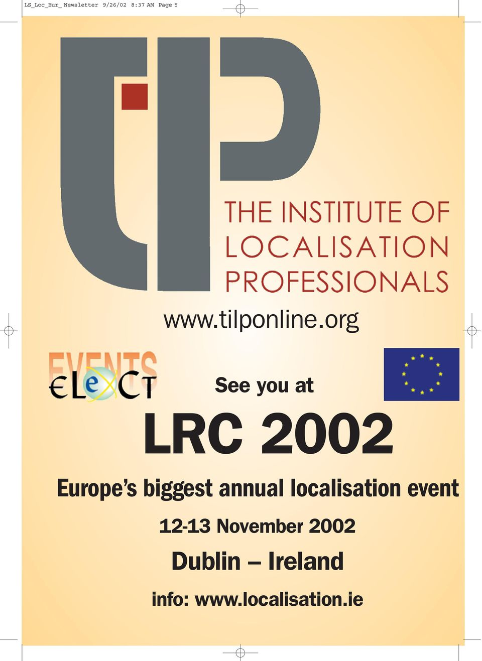 org See you at LRC 2002 Europe s biggest